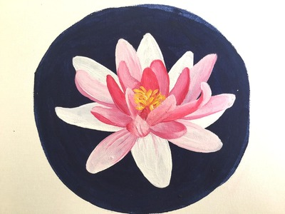 How to Paint a Waterlily in Acrylics