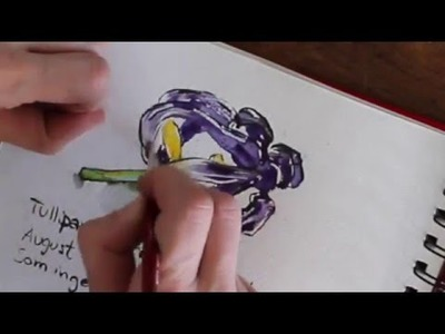 How to paint Watercolour flowers. INSPIRASION Edith Holden SKETCHBOOK