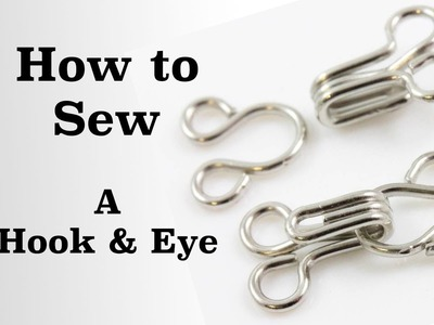 How to Sew a Hook and Eye | Sew Anastasia