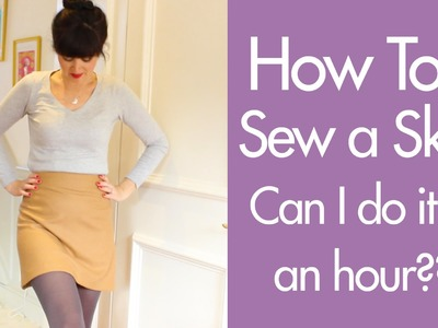 How to sew a skirt - can I do it in an hour??