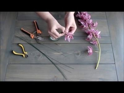 How to Wire a Cymbidium Orchid