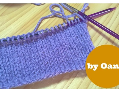 Knitting for crocheters   purl stitch by Oana