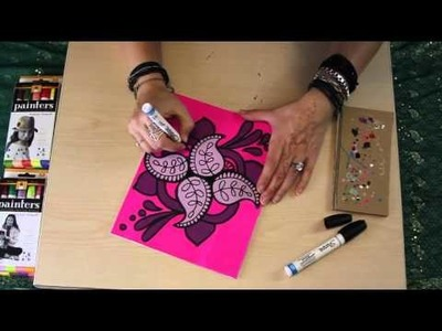 Learn How To Draw and Paint Paisley Mandalas w. Online Workshop For Artists