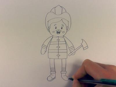 R.E.A.P: How to Draw a Cartoon Fireman