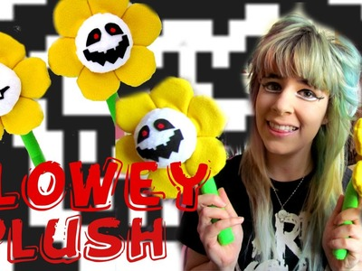 SIMPLE PLUSH TUTORIAL: It's kill or be killed! How to make Undertale FLOWEY plush- Cloctor Creations