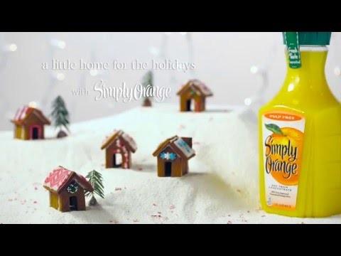 Simply Orange® | How To Make Mini Gingerbread Houses