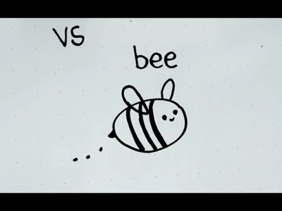 20: Kids' Tutorial -  How to Draw a Bee | Simple, Easy & Fun | Vivi Santoso