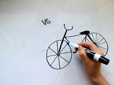 4: Kids' Tutorial -  How to Draw a Bicycle or Bike in 3 Minutes - Simple, Easy & Fun | Vivi Santoso