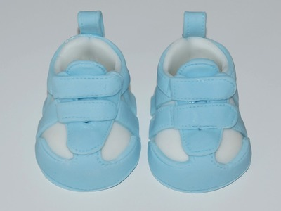 Cake decorating - how to make a baby sneaker shoe