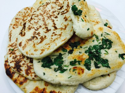 Eggless Naan without Tandoor - How to make naan on Tawa in English