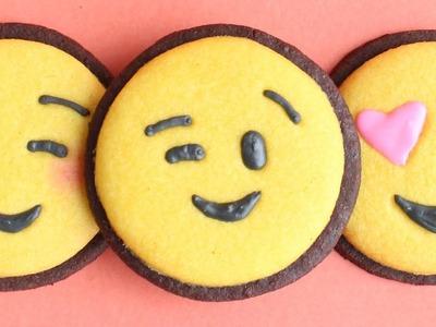 Emoji Cookies - how to make easy emoji decorated cookies