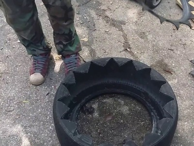 GARDENING CROSSFIT HOW TO MAKE A TIRE PLANTER