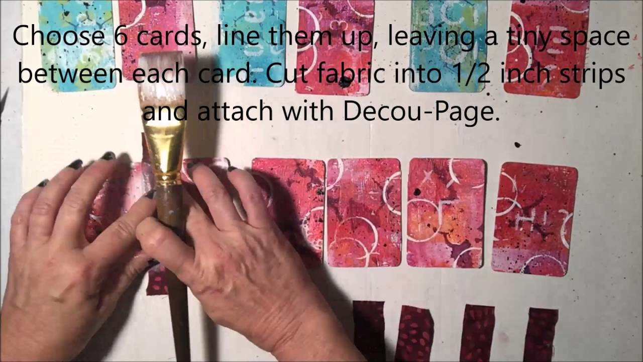Gel Press Accordian Book How-To