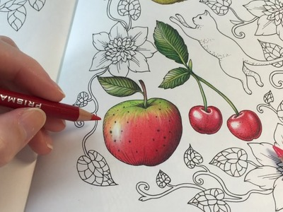 HOW I COLOR AN APPLE | Blomstermandala Coloring Book | Coloring With Colored Pencils