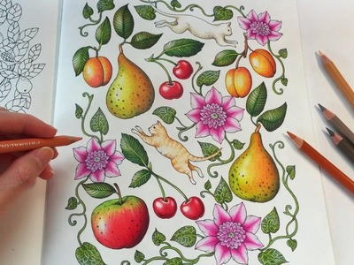 HOW I COLOR KITTIES | Blomstermandala Coloring Book | Coloring With Colored Pencils