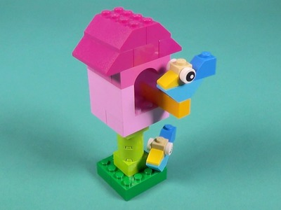 How to Build a Lego Birdhouse - Lego Birdhouse Build Tutorial - Lego Classic 10694 (2015)