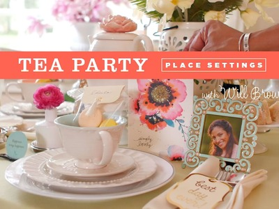 How to: Creative place setting for a tea party