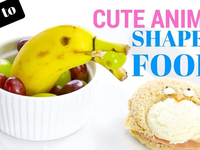 How To: Cute Animal Shaped Food | Food Art | Alison from Millennial Moms