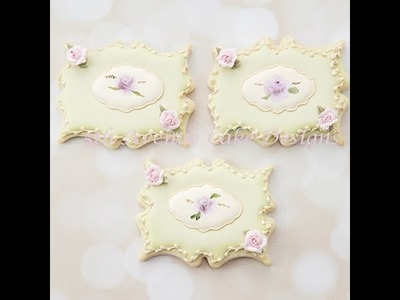 How to Decorate a Hand Painted Rose Plaque Cookie