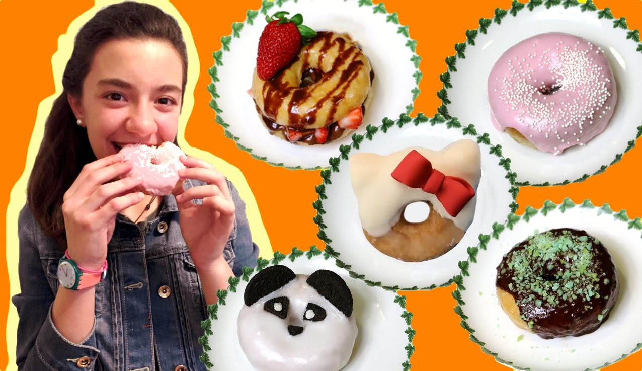 How to decorate donuts in 1 minute with gelatine, Oreos, Nutella.