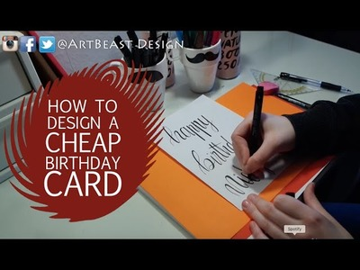 HOW TO DESIGN A BIRTHDAY CARD | BEGINNER | HAND LETTERING