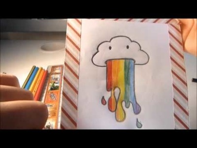 How to draw a cute rainbow cloud!