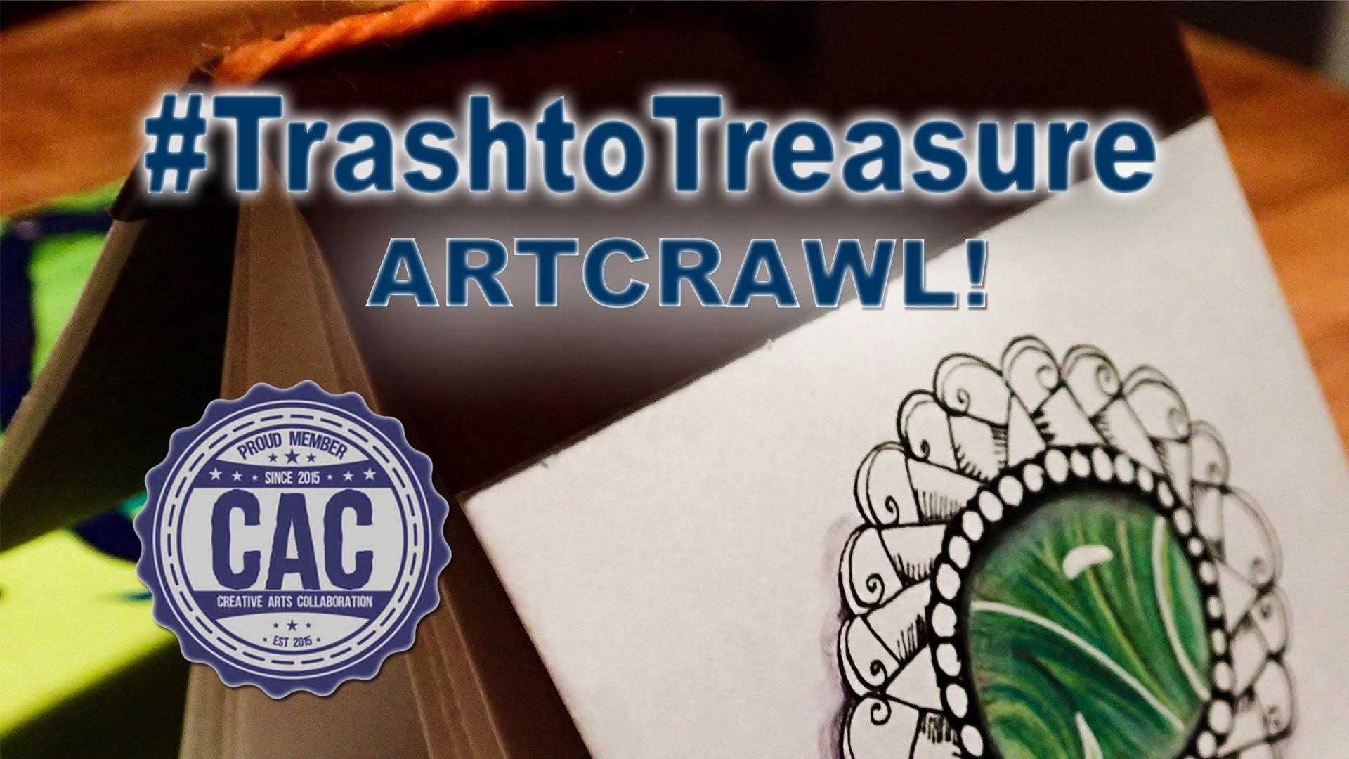 How to Draw a Doodle Gem Tutorial  Trash to Treasure Art Crawl