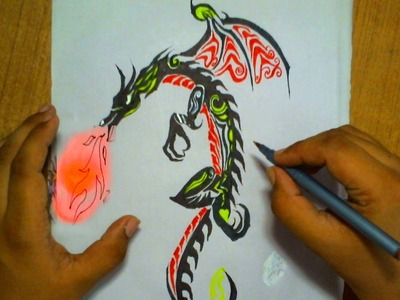 How to Draw a Dragon Tattoo | Step by Step
