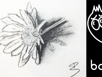 How to draw a flower with shadow | TUTORIAL
