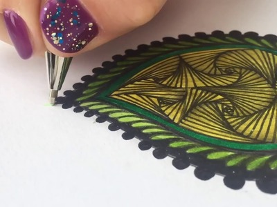 How to draw a perfect Zendoodle leaf