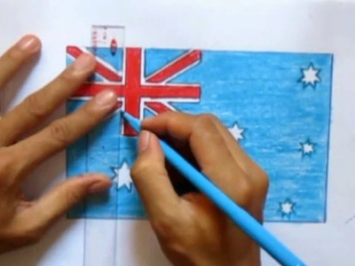How to draw Australia flag | speed drawing