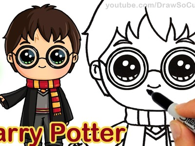 How to Draw Chibi Harry Potter Step by step Cute