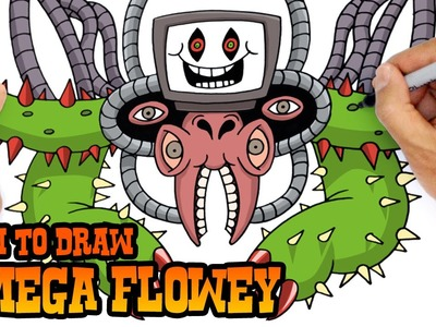 How to Draw Omega Flowey (Undertale)- Step by Step Art Lesson