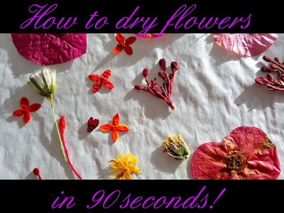 How to dry flowers in 90 seconds!