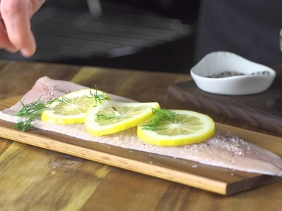 How to Grill Rainbow Trout on a Cedar Plank with Citrus Caper Relish