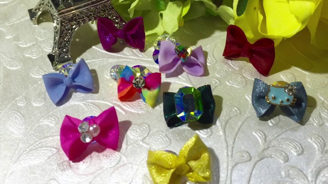 HOW TO MAKE A 4D ACRYLIC BOW!!to decorate your nails!!!