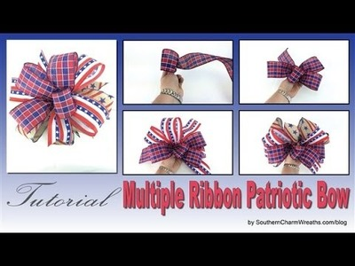 How to Make a Bow - Patriotic Multi Ribbon Bow