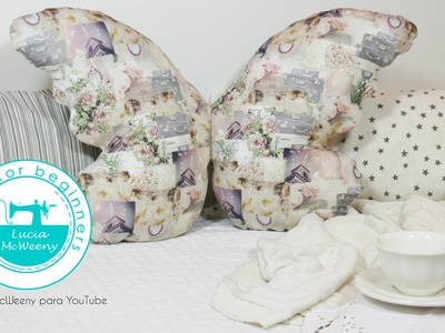 How to make a butterfly cushion. Sewing for beginners.
