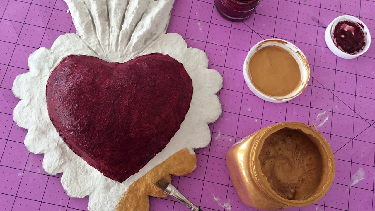 How To: Make a FastMache Sacred Heart Wall Plaque