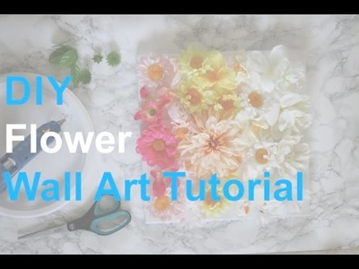 How to make a flower canvas wall art
