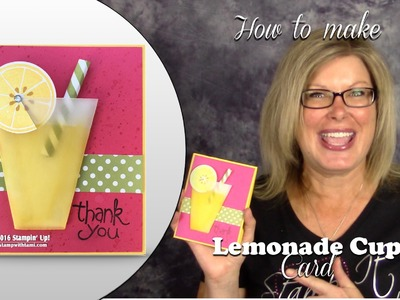 How to Make a Frosty Lemonade Card featuring the Stampin Up Apple of My Eye