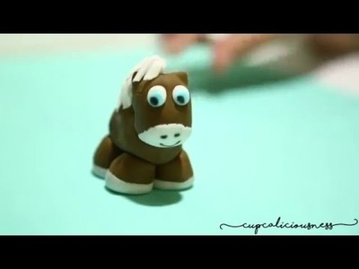 How to make a Horse Figurine from fondant - farm animals