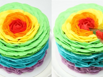 How To Make A Rainbow Rose Cake - CAKE STYLE