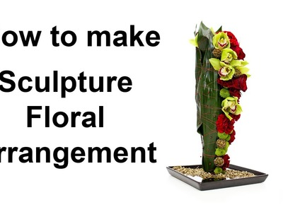 How to make a sculpture floral arrangement - featuring decor pins and wire detail -