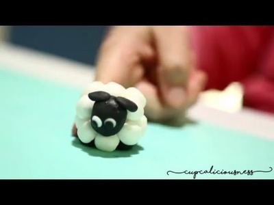 How to make a Sheep from fondant - farm animal