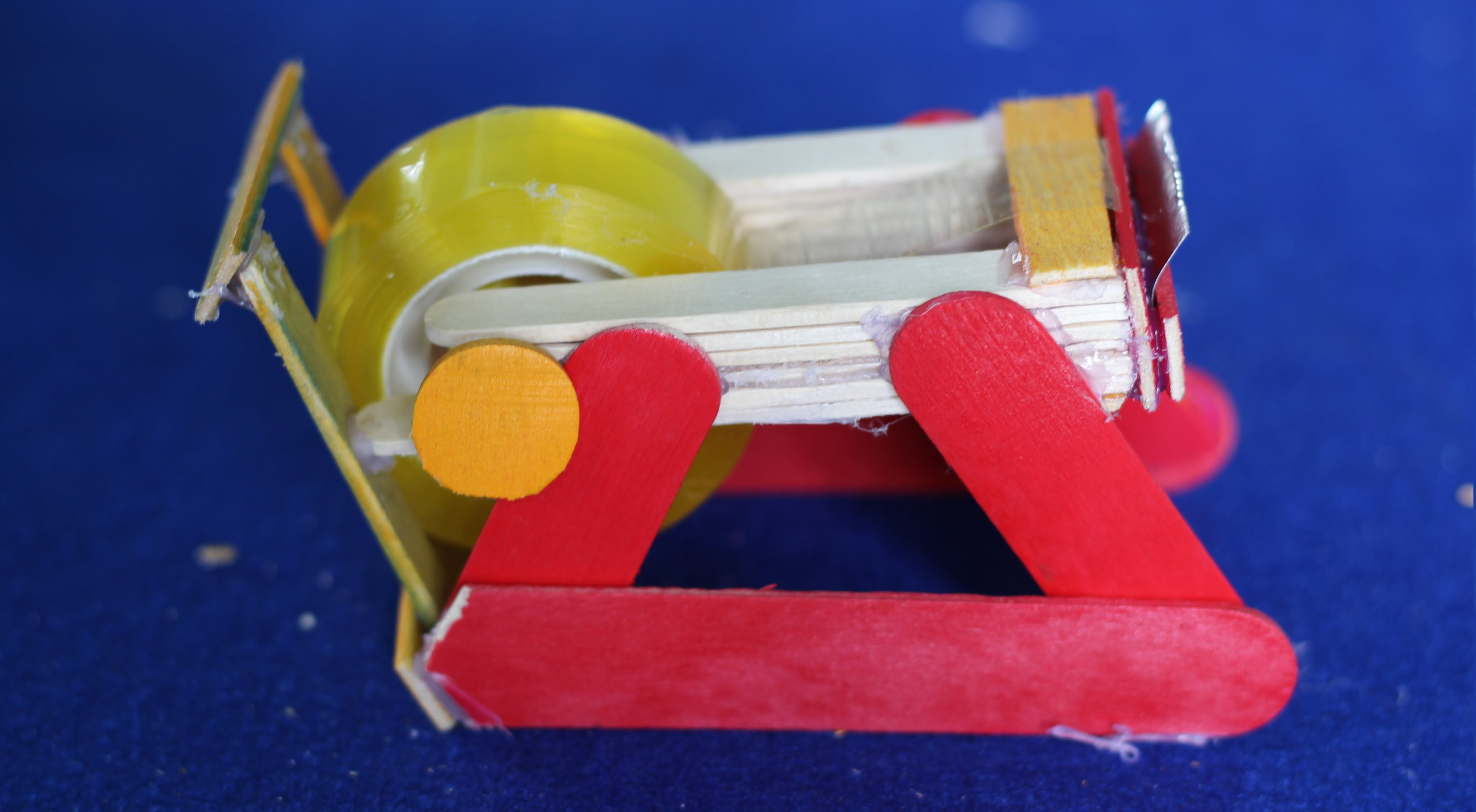 How to make a Tape Dispenser (tape cutter) using popsicle sticks