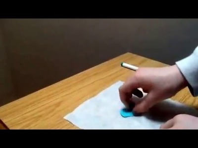 How to make coloured blue tack
