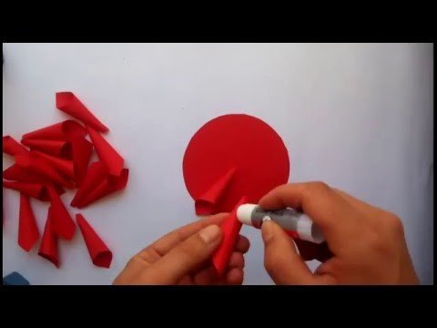 How to make dahila flower paper - Lule me leter