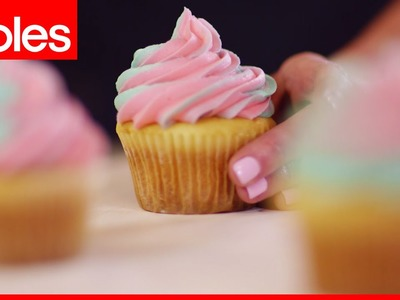 How to make fancy two-tone icing for cupcakes