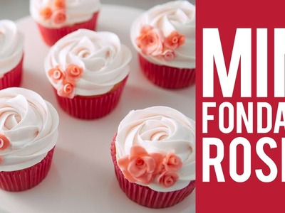How to make Fondant Mini Roses